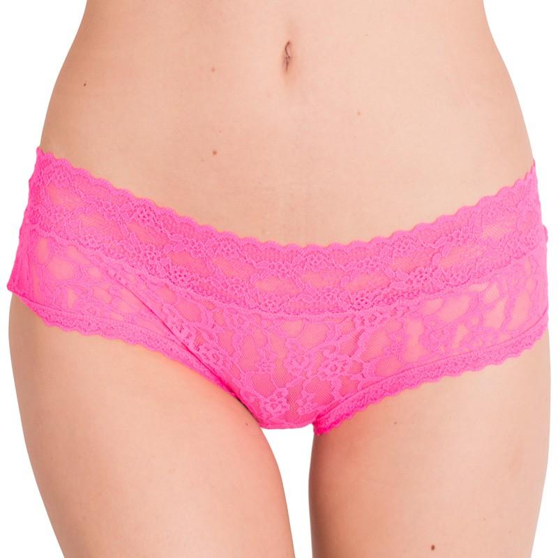 Dámské kalhotky Victoria's Secret hiphugger neonově růžová S