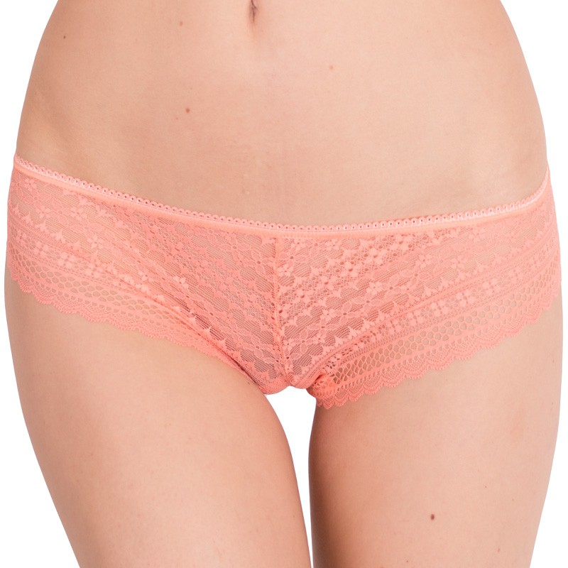 Dámské kalhotky Victoria's Secret cheekini lososové S