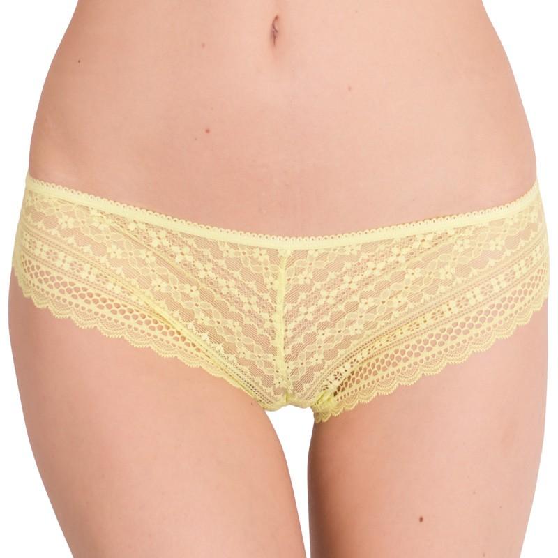 Dámské kalhotky Victoria's Secret cheekini žluté S