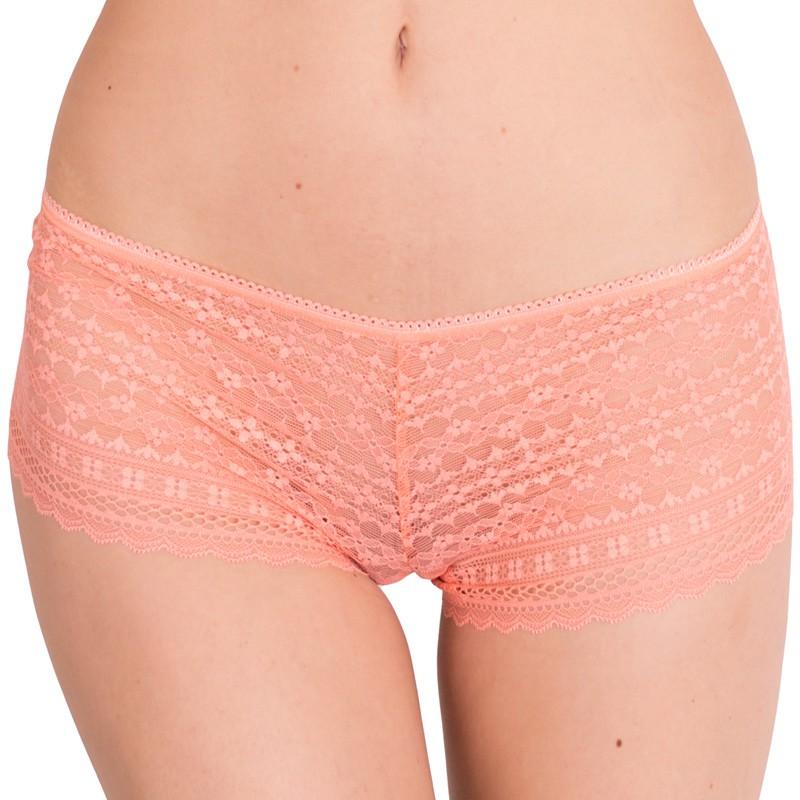 Dámské kalhotky Victoria's Secret shortie lososové S