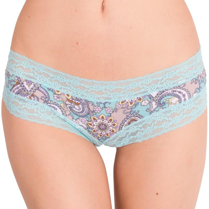 Dámské kalhotky Victoria's Secret cheeky aqua retro paisley