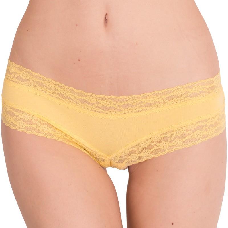 Dámské kalhotky Victoria's Secret cheeky žluté