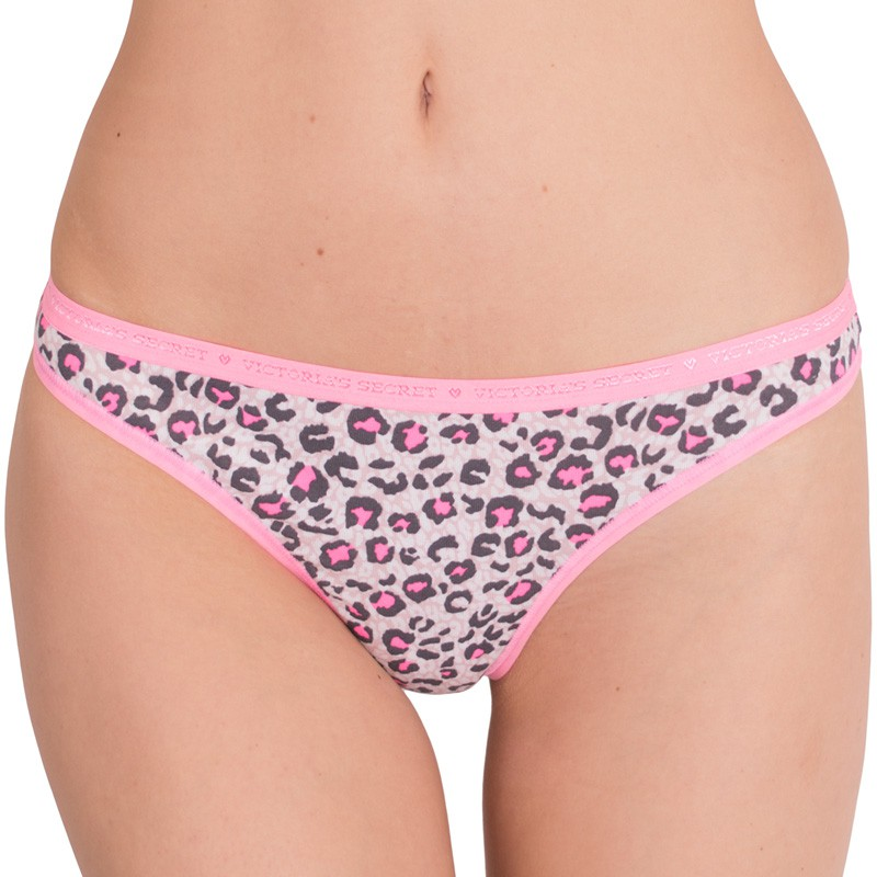 Dámská tanga Victoria's Secret pink animal M