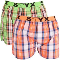 2PACK pánské trenýrky Styx sport orangino