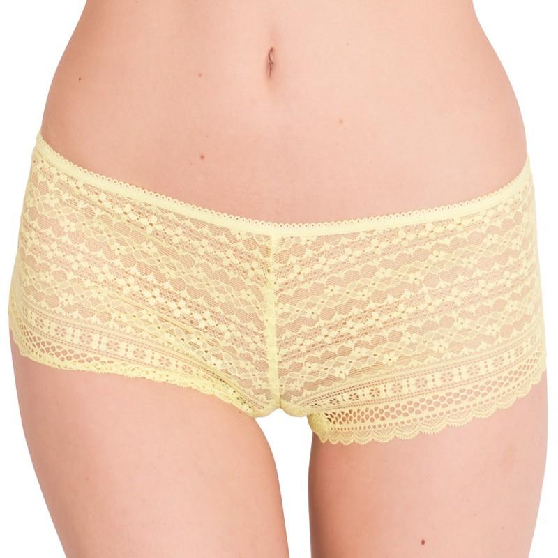 Dámské kalhotky Victoria's Secret shortie žluté S