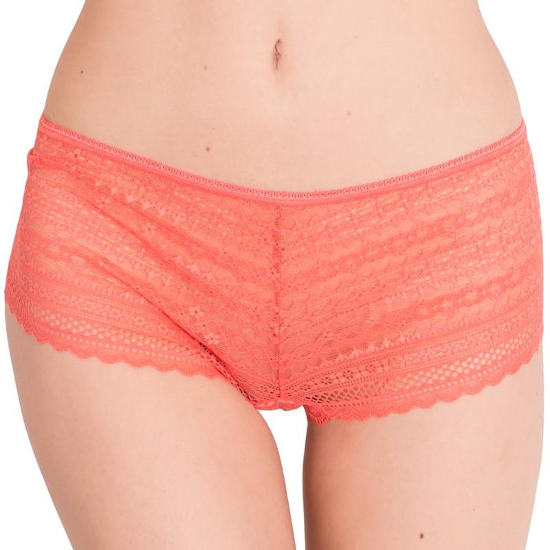 Dámské kalhotky Victoria's Secret shortie oranžové
