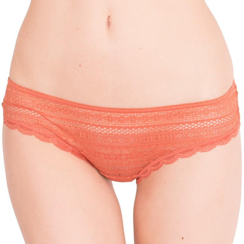 Dámské kalhotky Victoria's Secret cheeky tmavě oranžové S