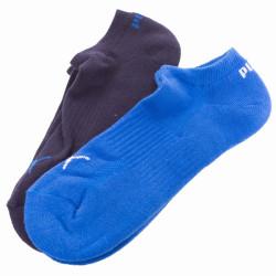 2PACK ponožky Puma blue grey melange