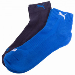 2PACK ponožky Puma quarter blue grey melange
