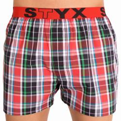 Pánské trenky Styx sportovní guma vícebarevné (B617)