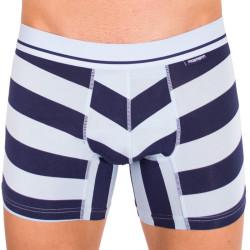Pánské boxerky Mosmann Australia long boxer luxe multi stripe blue