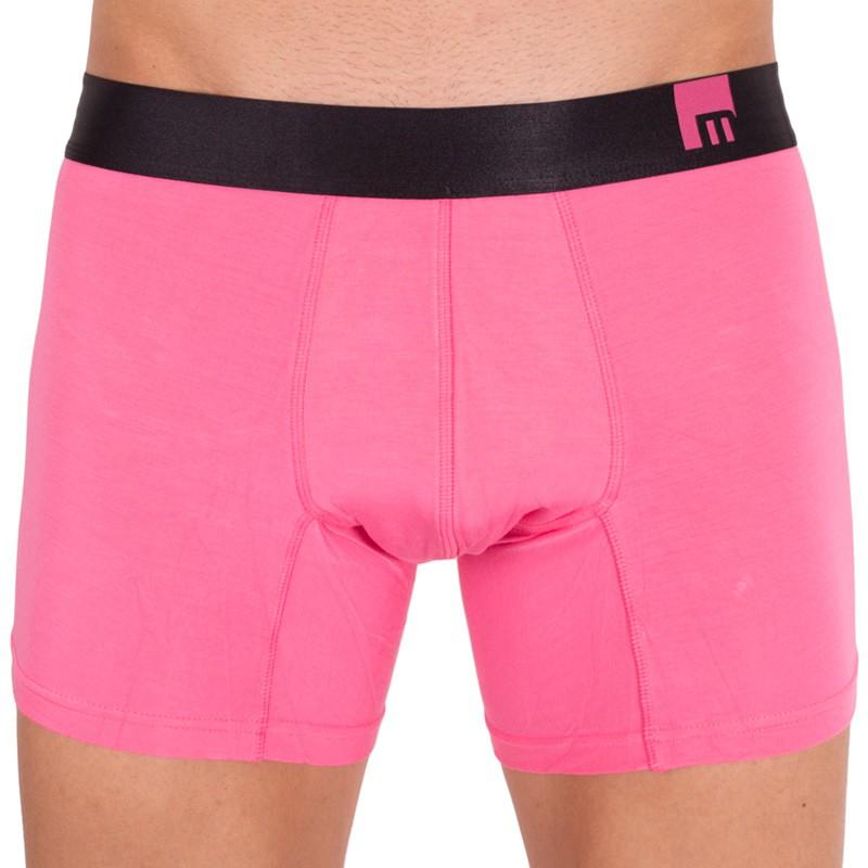 Pánské boxerky Mosmann Australia long boxer mode calypso pink L