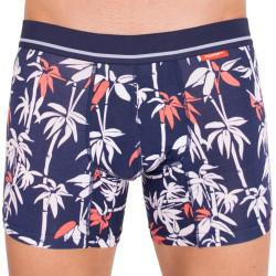 Pánské boxerky Mosmann Australia long boxer luxe navy bamboo print