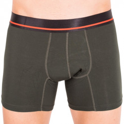 Pánské boxerky Mosmann Australia boxer brief classic dark green