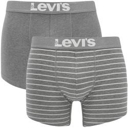 2PACK pánské boxerky Levis middle grey melange