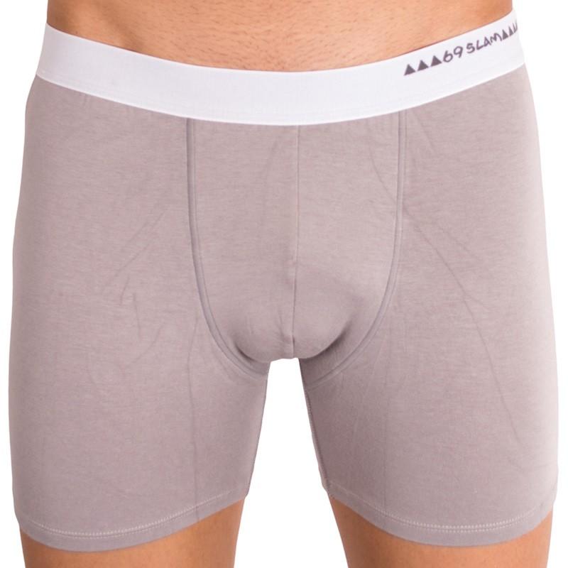 Pánské boxerky 69SLAM fit bamboo plain grey L