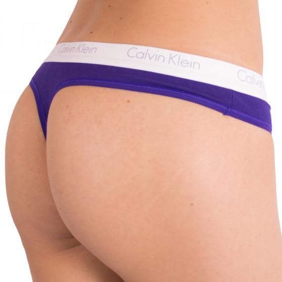 Dámská tanga Calvin Klein fialová (QF1368E-MY6)
