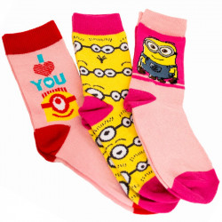 3PACK ponožky Disney Mimoni i love you