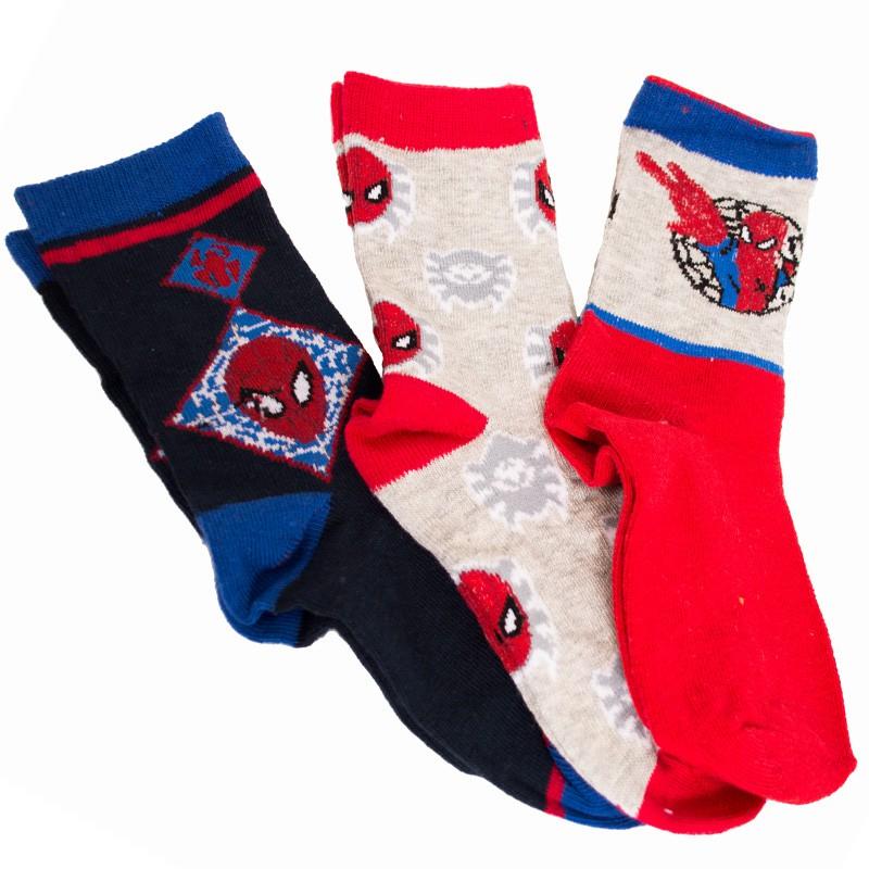 3PACK ponožky Marvel Spiderman červené 27/30
