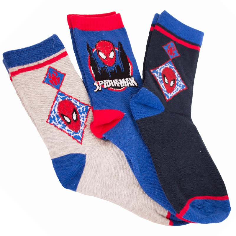 3PACK ponožky Marvel Spiderman modré 31/34