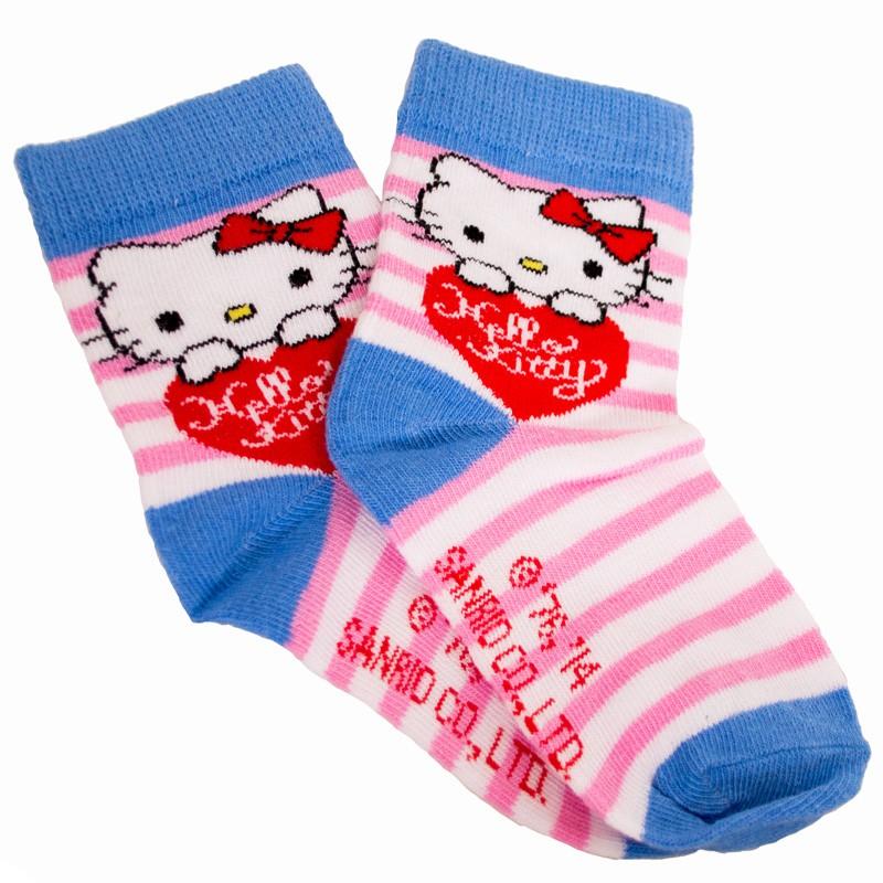 Ponožky Disney Hello Kitty růžové proužky 23/26