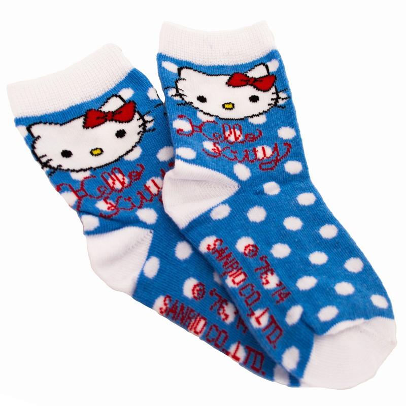 Ponožky Disney Hello Kitty modré puntíky 27/30
