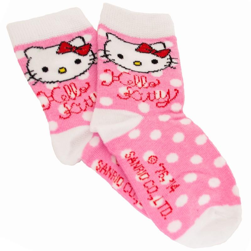Ponožky Disney Hello Kitty růžové puntíky 27/30