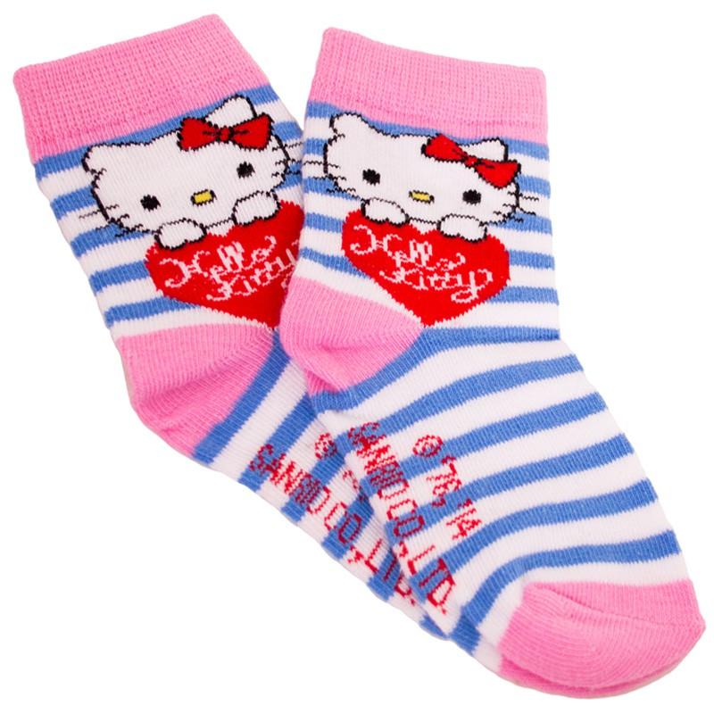 Ponožky Disney Hello Kitty modré proužky 27/30