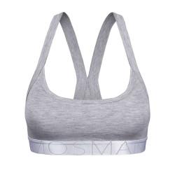 Dámská sportovní podprsenka Mosmann Australia crop top heather grey