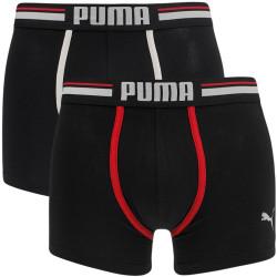2PACK pánské boxerky Puma dark grey melange black