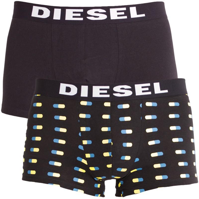 2PACK pánské boxerky Diesel černé pilulky L