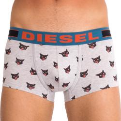Pánské boxerky Diesel šedé s kočkou