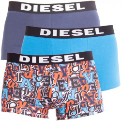 3PACK pánské boxerky Diesel modré s písmeny