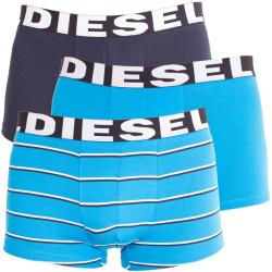 3PACK pánské boxerky Diesel tyrkysové pruhy