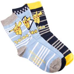 3PACK ponožky Pokémon modré