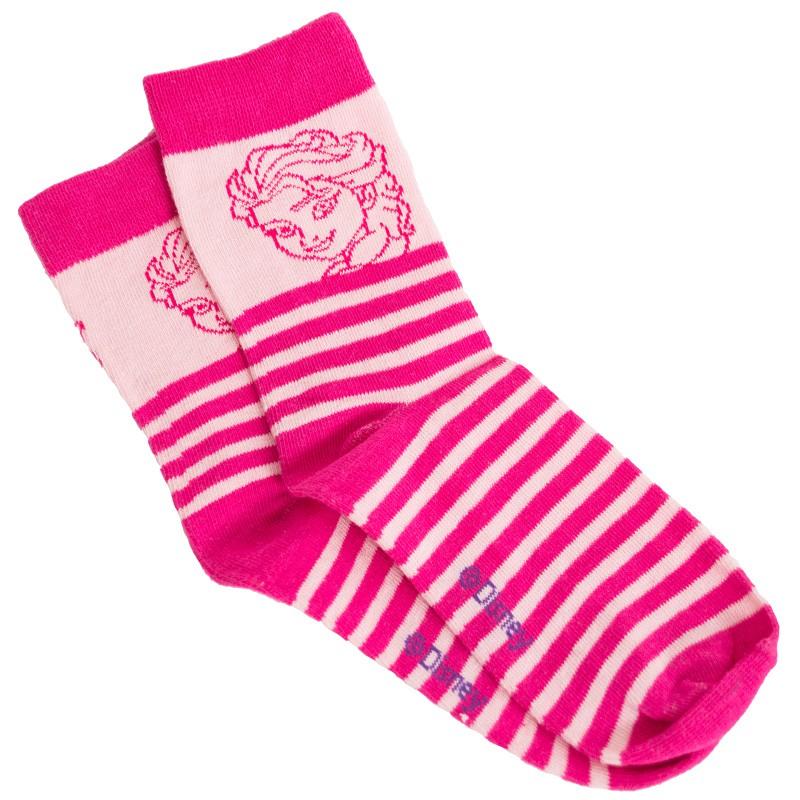 Ponožky Disney Frozen Elsa růžové pruhy 31/34