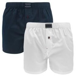 2PACK pánské trenýrky Tommy Hilfiger bílé modré (UM0UM00007 901)