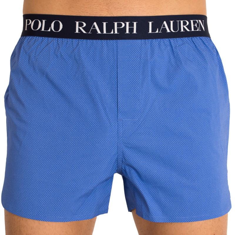 Pánské trenýrky Ralph Lauren modré s puntíky S