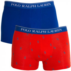 2PACK pánské boxerky Ralph Lauren modro oranžové s logem