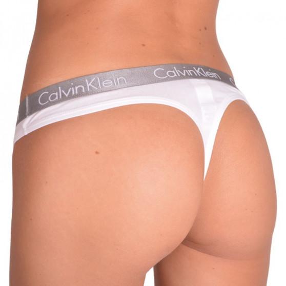 2PACK dámská tanga Calvin Klein bílá (QD3583E-100)