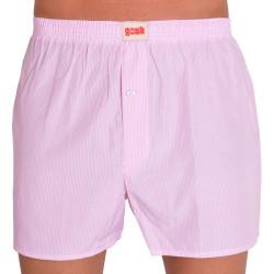 Pánské trenýrky Gosh růžové s tenkými proužky