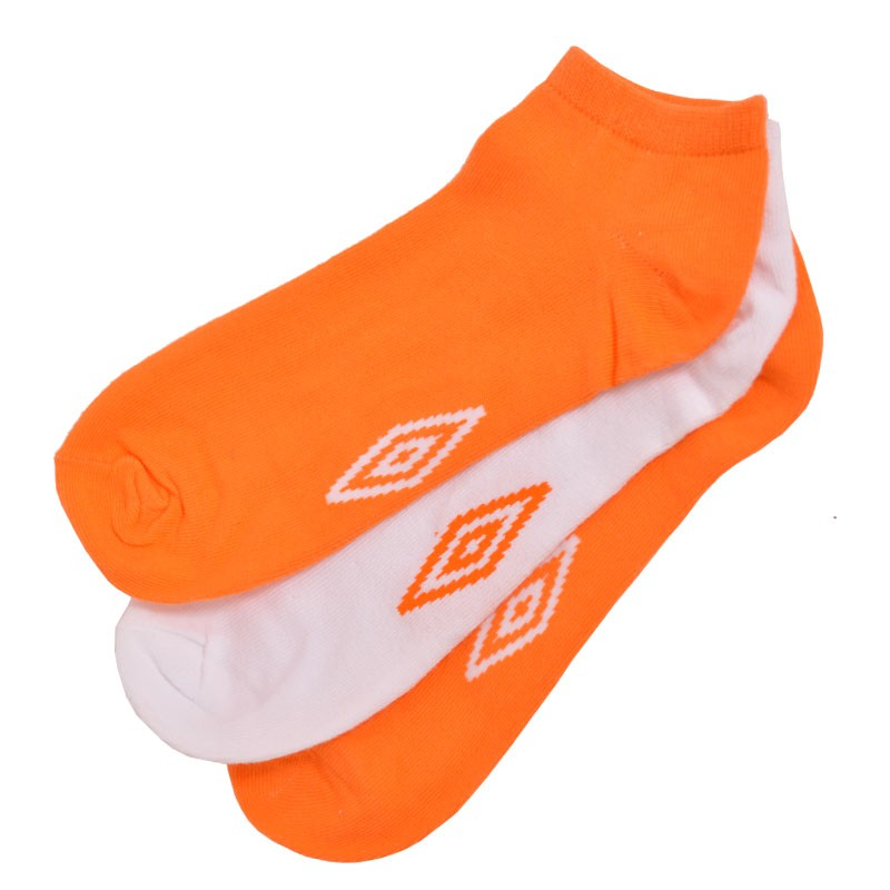 3PACK ponožky Umbro bílo oranžové L