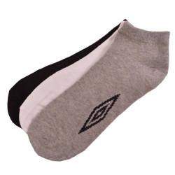 3PACK ponožky Umbro bílo šedo černé
