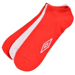 3PACK ponožky Umbro bílo červené