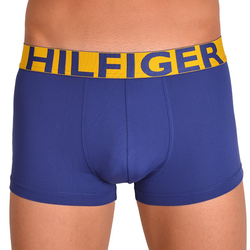 Pánské boxerky Tommy Hilfiger bold modré se žlutou gumou M