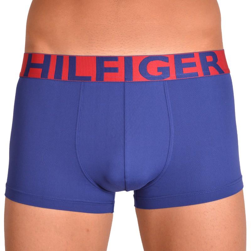Pánské boxerky Tommy Hilfiger bold modré se červenou gumou M