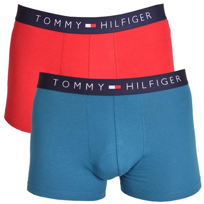 2PACK pánské boxerky Tommy Hilfiger trunk modro červené M