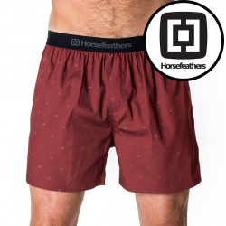 Pánské Trenky Horsefeathers Frazier Boxer Shorts Ruby