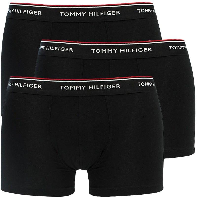 E-shop 3PACK pánské boxerky Tommy Hilfiger černé nadrozměr (1U87905252 990)