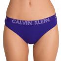 Dámská tanga Calvin Klein Ultimate cotton fialové